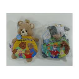 2 AURORA crinkle pages Read Developmental Baby crinkle Toy s