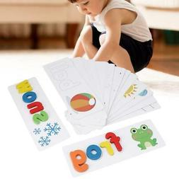 Alphabet Puzzle Wooden See & Spell Learning Educational Chil