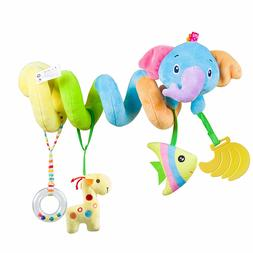 Car Seat Toy Activity Spiral Plush Toys for Baby Stroller an