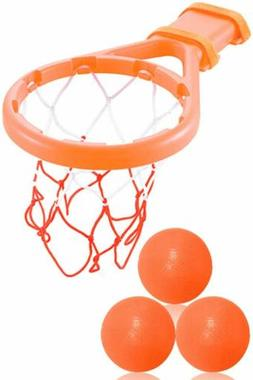 Baby & Toddler Gift Set Bath Toys Basketball Balls & Hoop, B