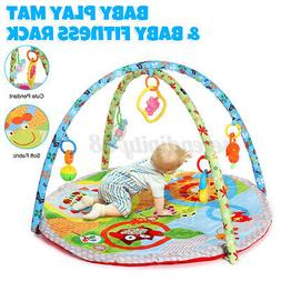 Baby Gyms Playmats  Soft Activity  Cartoon Crawling Play Lea
