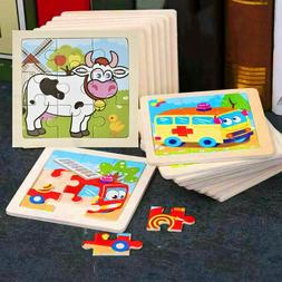 Baby Kids Toys 3D Wooden Puzzle Cartoon Learning Educational
