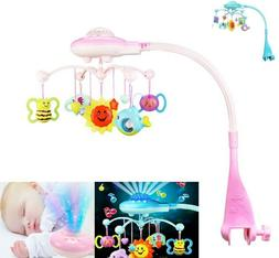 Baby Musical Crib Mobile Bed Bell Toys Hanging Rattles Light