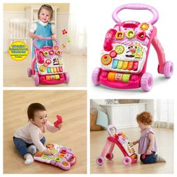 VTech Baby Push Walker Toddler Interactive Learning Toy Sit-