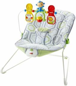 Baby Rocker Bouncer Removable Toy Bar Nonskid Feet Baby's Bo