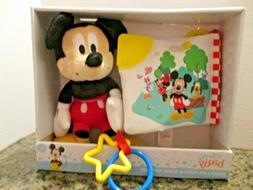 Disney Baby Stroller Toys & Book Gift Set Mickey Mouse Baby