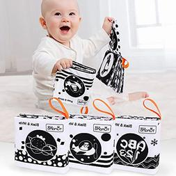 TUMAMA Baby Toys 0 3 6 to 12 Months,Soft Cloth Books for Bab