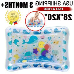 Baby Water Mat Tummy Time Inflatable Play Mat floor Activity