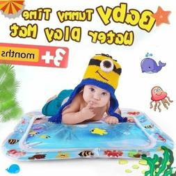 Baby Water Play Mat Tummy Time Inflatable Kids Floor Activit