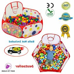 Baby Ball Tent Toddler Toy Stages Kids Boys Girls Ball Pit B