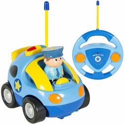 2 Channel Beginners Kids Remote Control Cartoon Police Car P