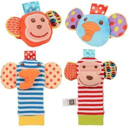 Design Baby Boys Girls Toy Baby Rattle Animal Foot Finder So