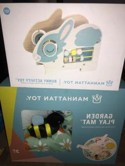 Brand New ! Manhattan Toy Company Garden Play Mat And Bunny