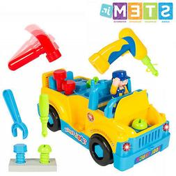 Bump'n'Go Toy Truck With Electric Drill and Various Tools, L