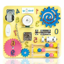 Busy Board Toddlers Baby Activity Board Sensory Game Locks L