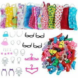 Clothes And Accessories For Doll 42 Pcs Party Dress Outfit G
