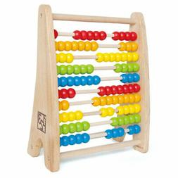 Hape E0412 Colorful Rainbow Wooden Counting Bead Abacus for