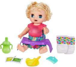 Baby Alive Happy Hungry Baby Doll - Blonde Curly Hair Kid To