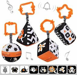 High Contrast Shapes Sets Baby Toys, Black and White Strolle