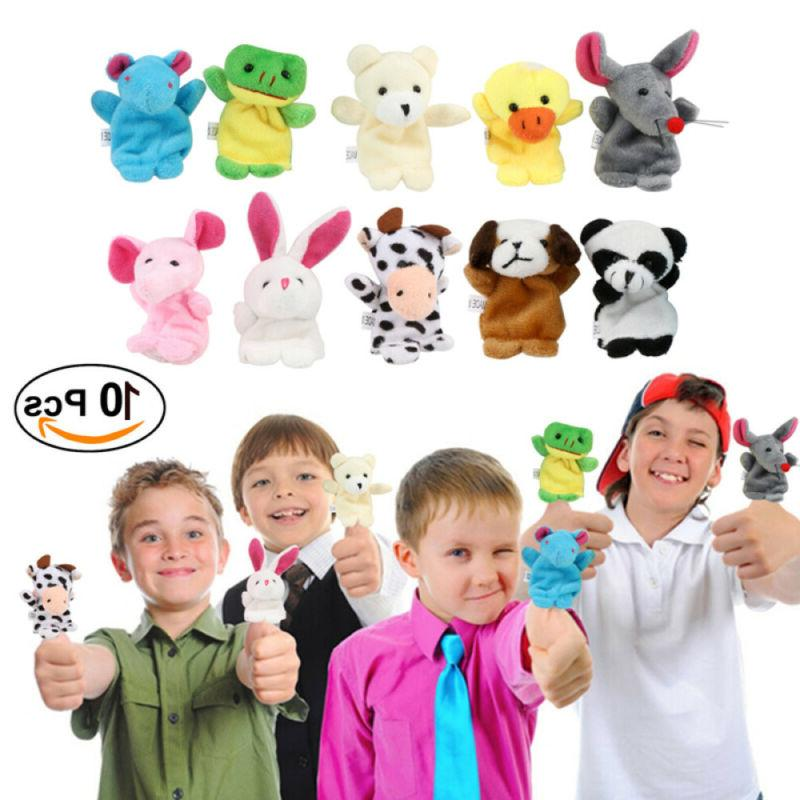 10pcs finger puppets cloth doll baby kids