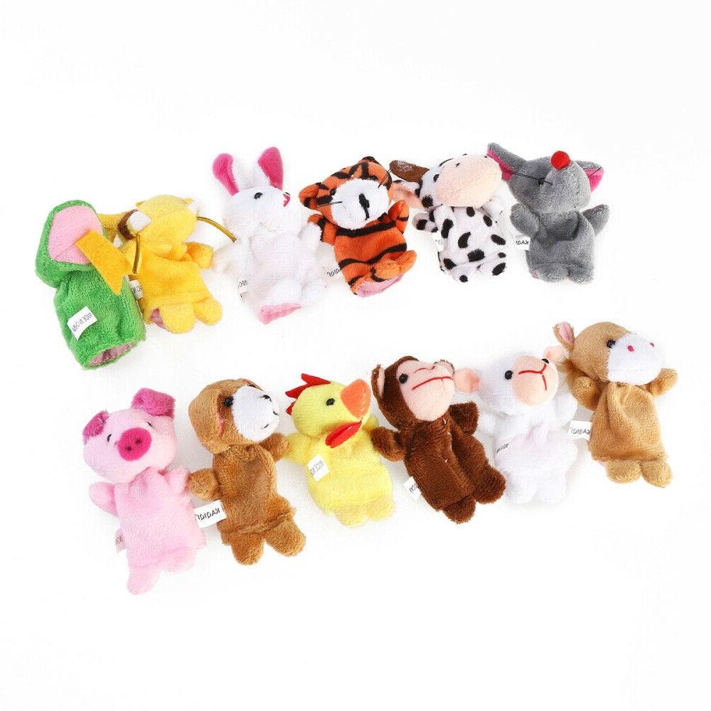 18x Puppets Animal Family Toys Supply