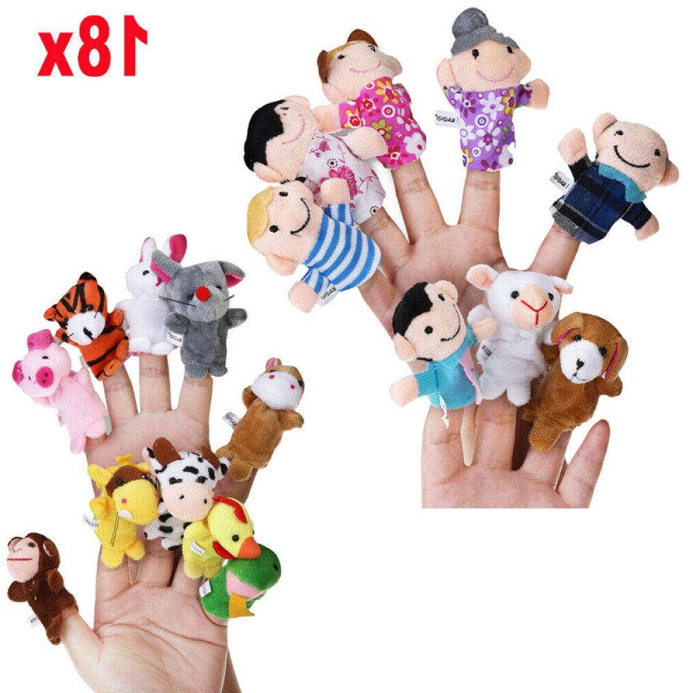 18x finger puppets doll baby educational hand