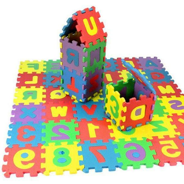 36Pcs Number Alphabet Puzzle Educational Hot