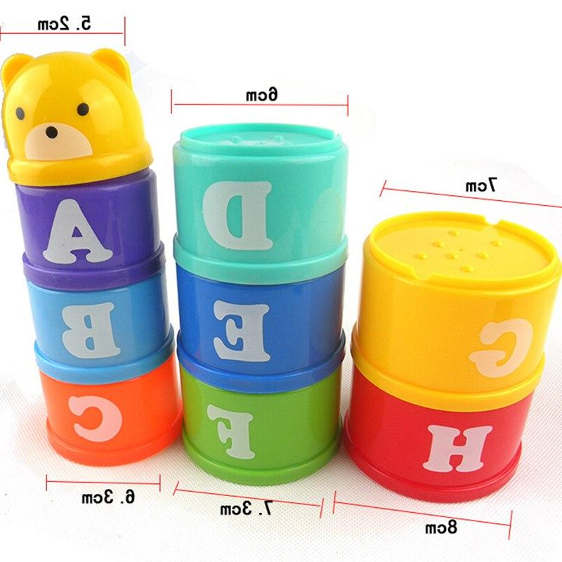 8PCS 6Month Figures Stack Early Intelligence <font><b>Toy</b></font> for Children
