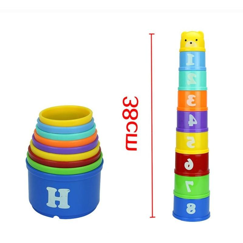 6Month Letters Stack Cup Tower Early Intelligence Alphabet for Children