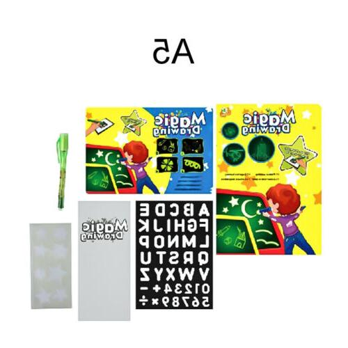 A4 Draw With Light Fun Developing Board Kids Educational