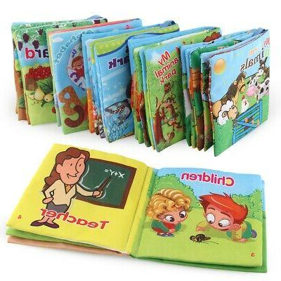 Toddler Baby Soft Fabric Activity Cloth Books for Infants Ea