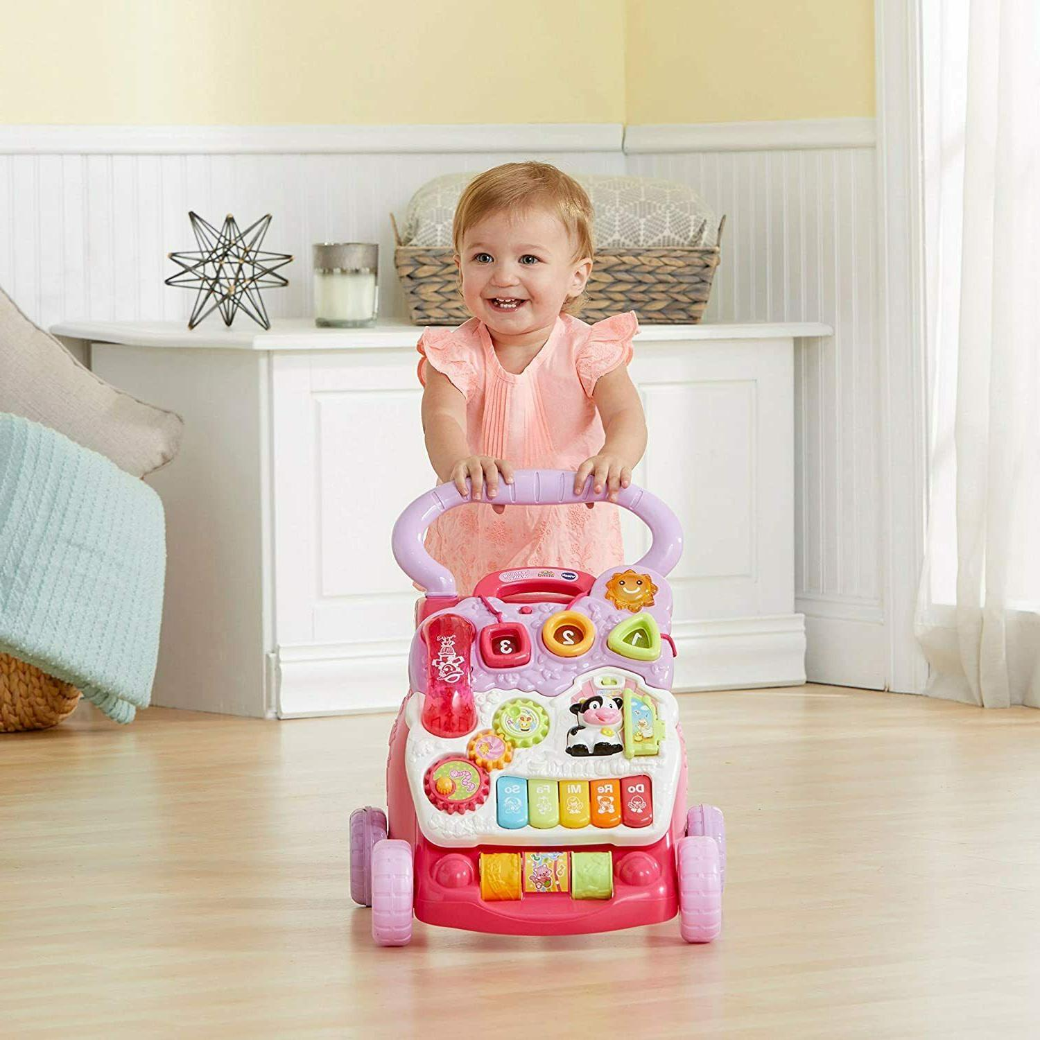 VTech Walker Toddler Learning Sit-to-Stand Pink