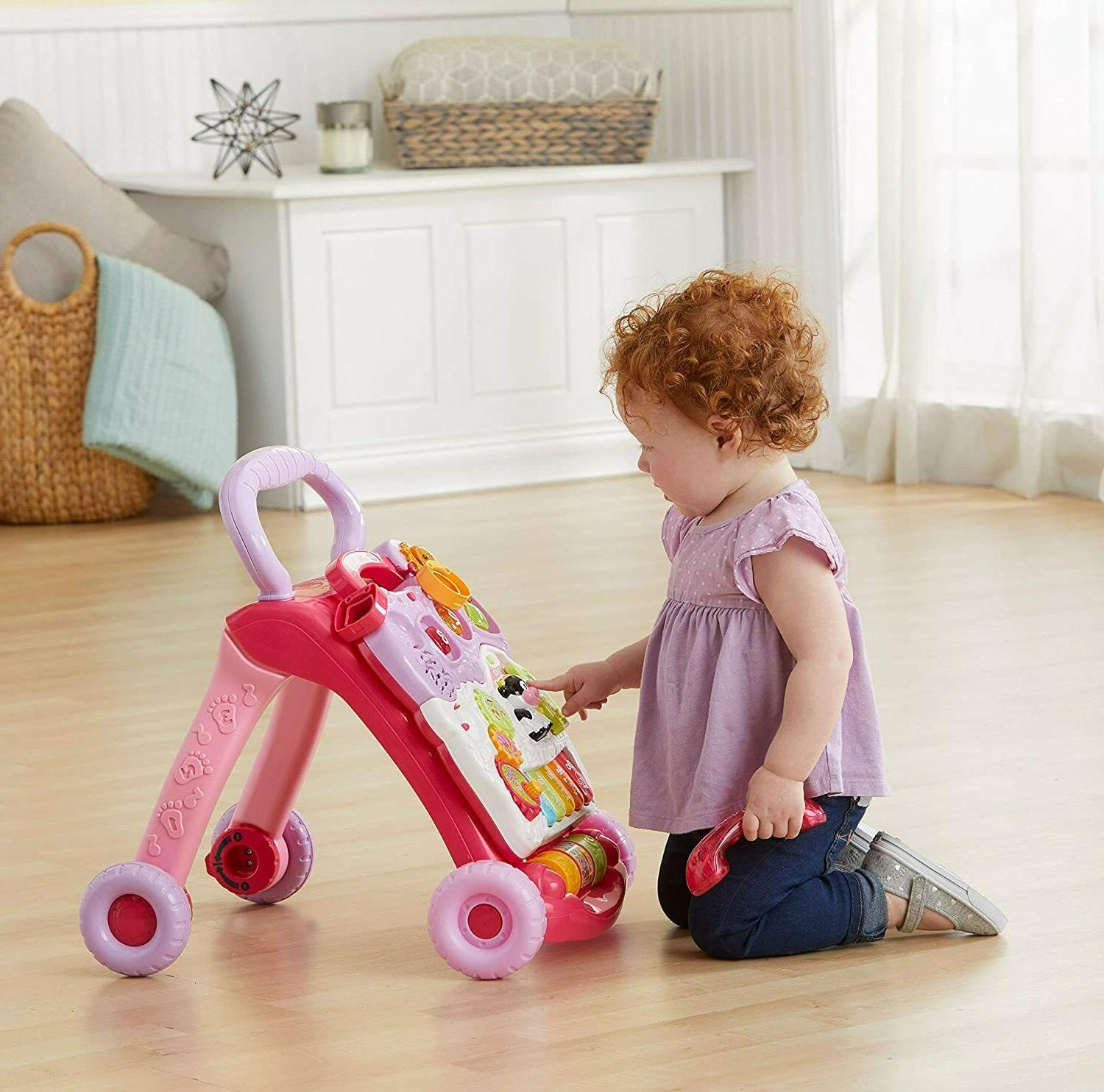 VTech Baby Toddler Learning Sit-to-Stand Pink