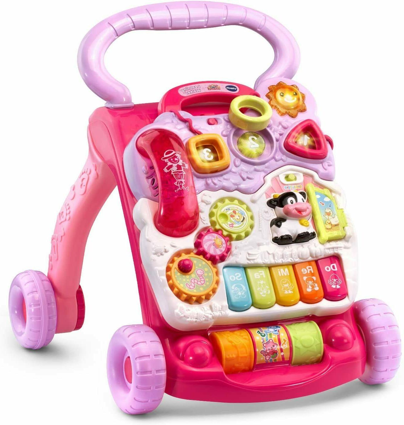 VTech Baby Push Toddler Sit-to-Stand Pink