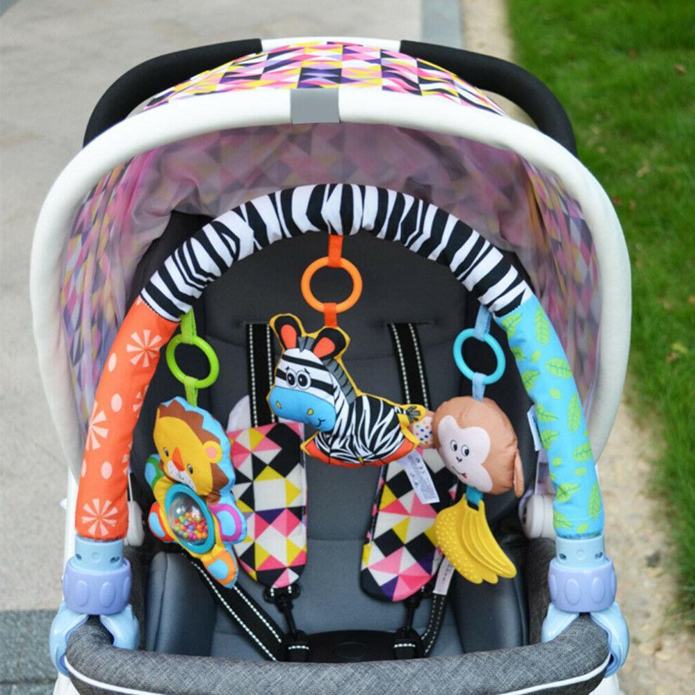 Baby Infant Stroller Hanging Toys Soft Plush Rattles Ring Be