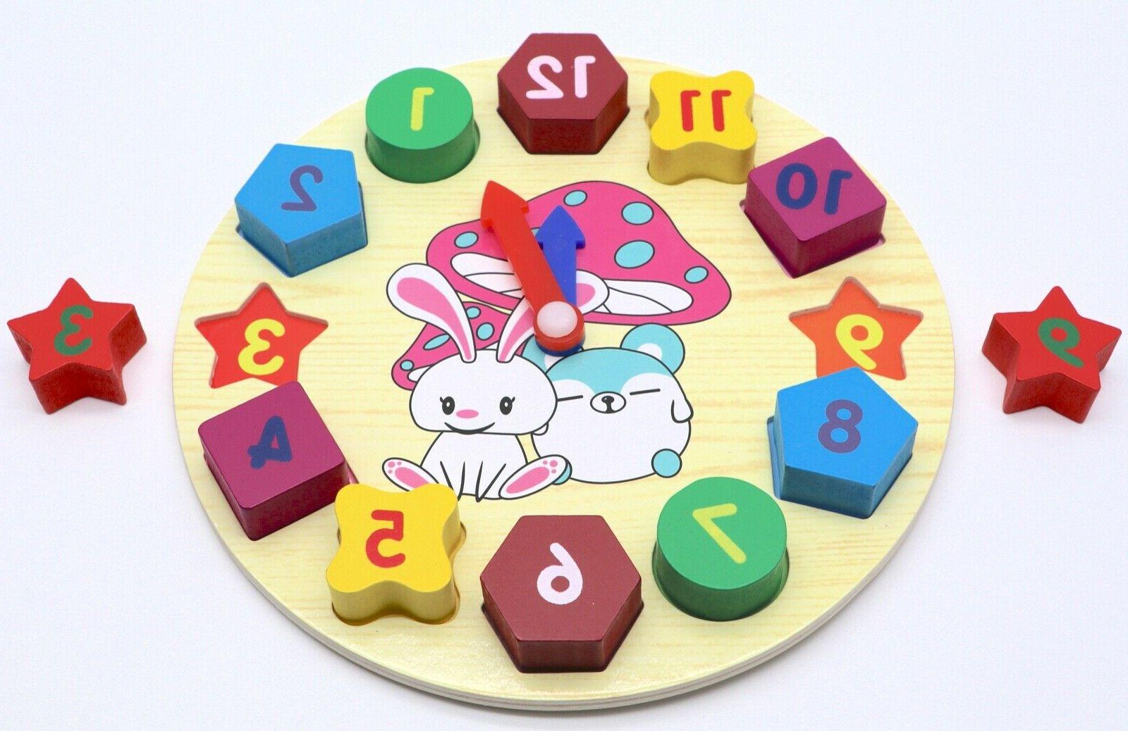 Educational Clock Puzzle Play Toy
