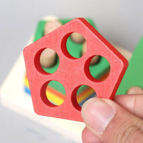 Educational Toys Wooden Shape Color Sorting Toddler