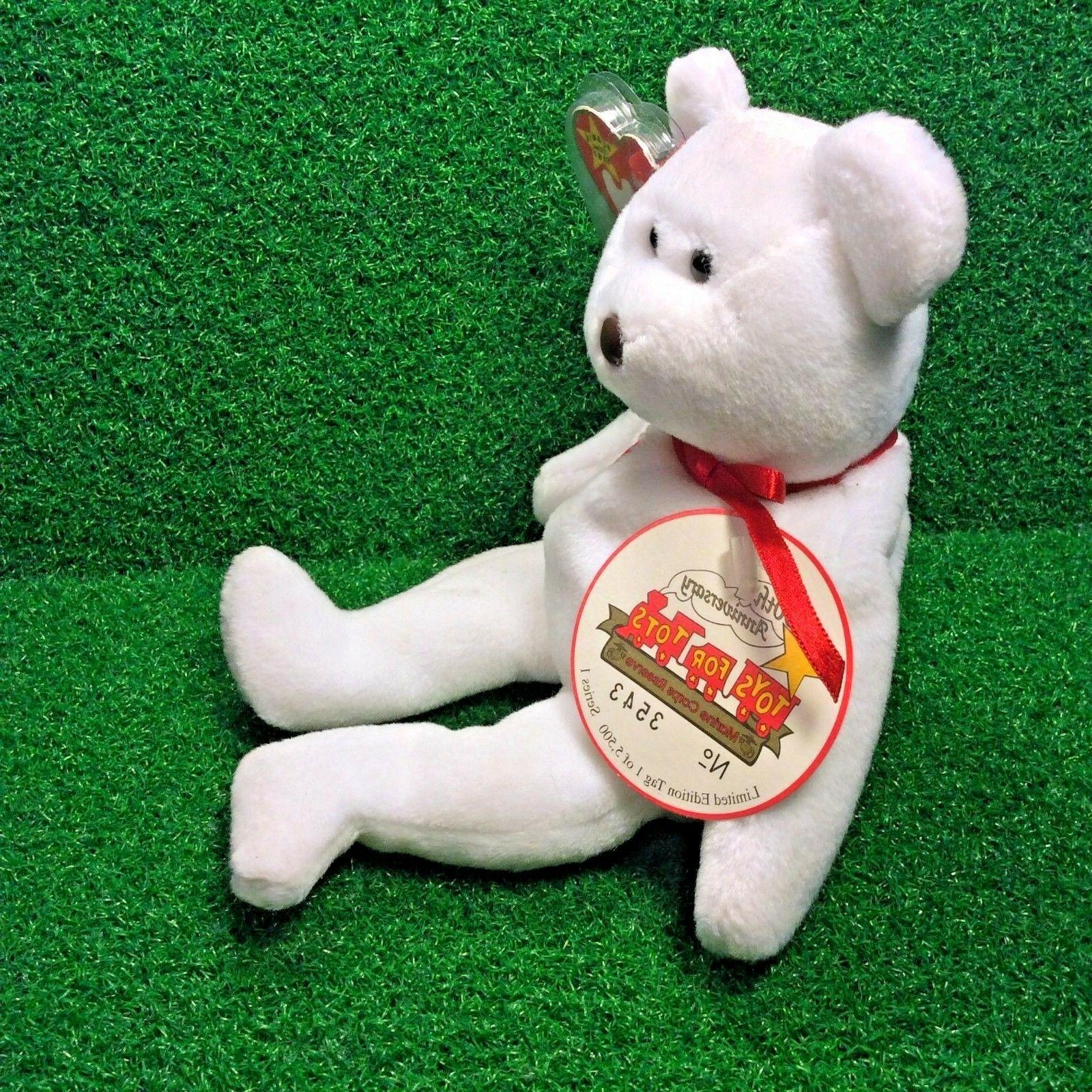 Limited Ty Beanie Baby Bear Toys For Tots MWMT