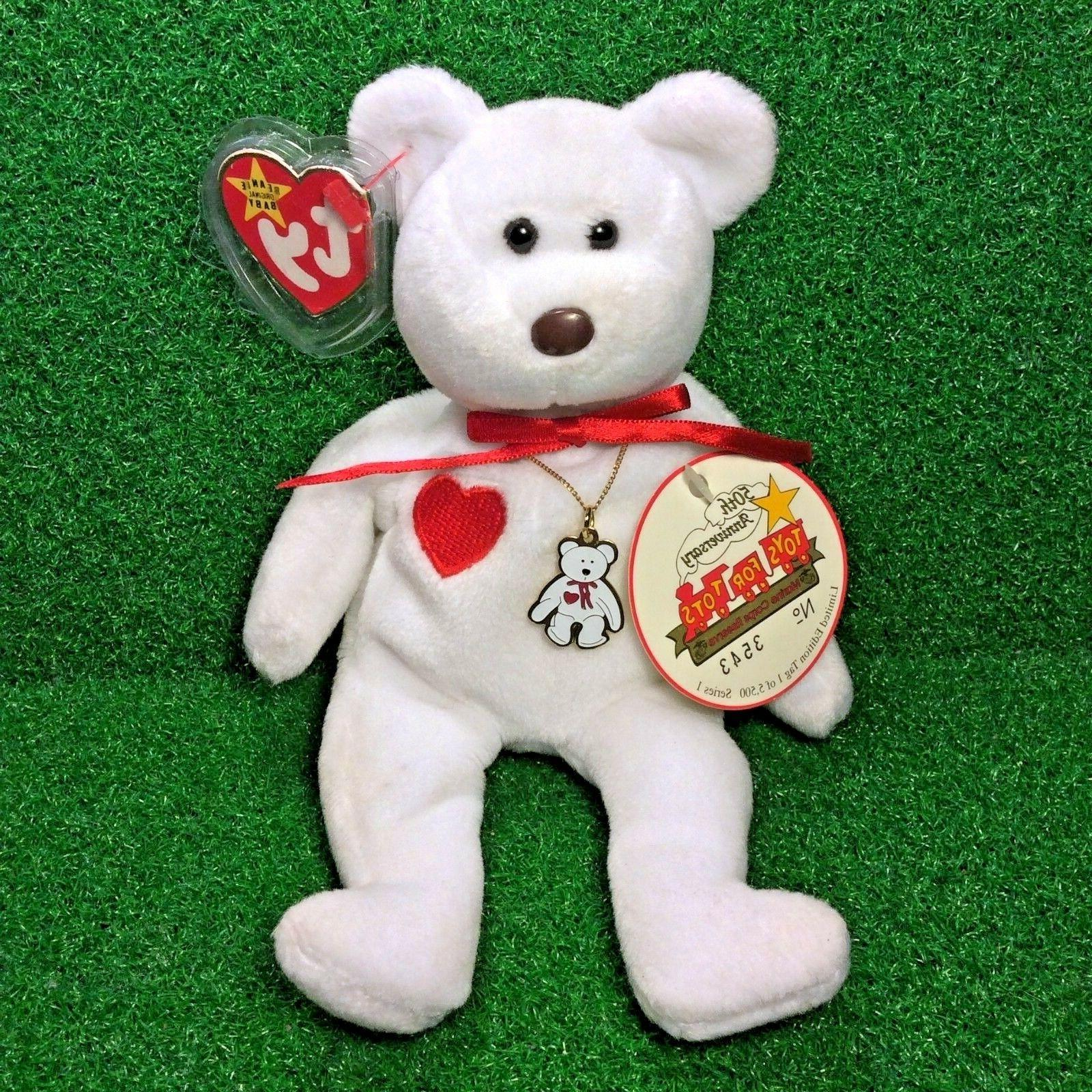limited edition beanie baby valentino the bear