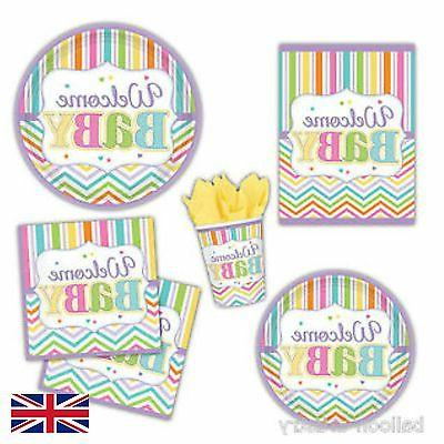 party bright welcome baby decorations and table