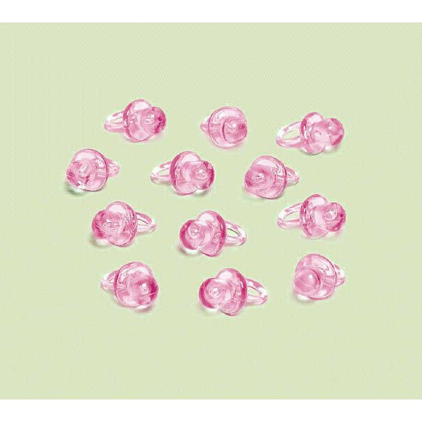 pink mini pacifier favor charms
