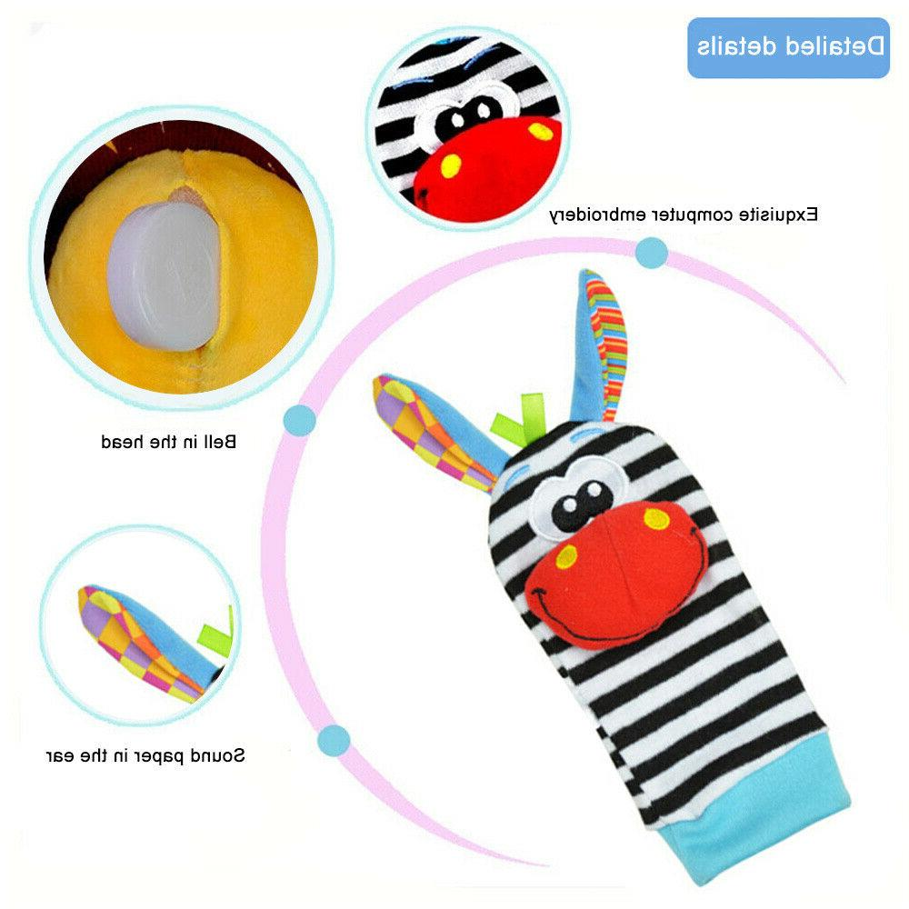 Soft Sensory Toys Foot-finder Wrist Bracelet 2PCS