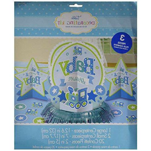 welcome baby boy table decoration kit