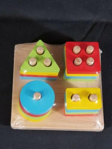 WOOD CITY Wooden & Stacking Toddlers, Educational