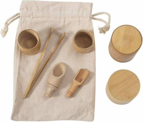 Wooden Set Tea Party Play Educational Pretend for