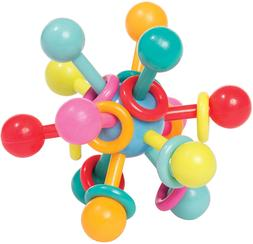 manhattan toy atom rattle and teether grasping