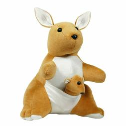 Mother and Baby Kangaroo Soft Toy, Brown