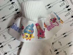 MTM RUFFLE SOCKS Personalized Shopkins Grocery Toy Girls Inf