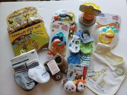 New Baby Boy Teether Toy Stacking Cups Book Bib Booties Sock