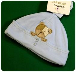 New/NWT~CARTERS~TOY TEDDY BEAR COLLECTION~BLUE HAT/CAP~BABY